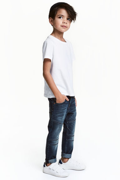 Усиленные Tapered Jeans - Темно-синий деним -  | H&M RU