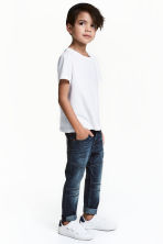 Reinforced Tapered Jeans - Dark denim blue - Kids | H&M 1