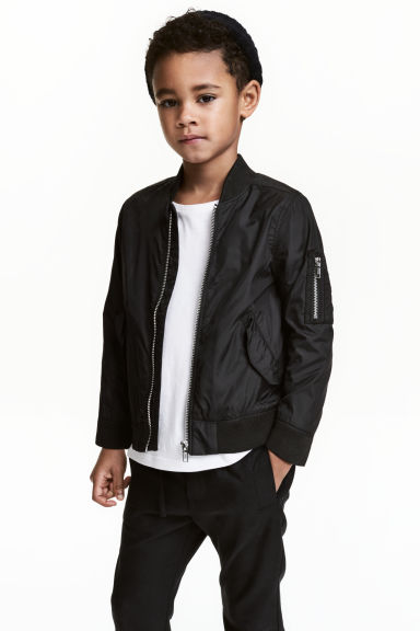 Bomber jacket - Black -  | H&M CN