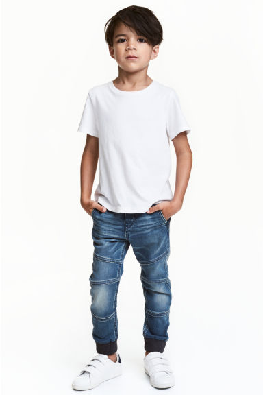 Super Soft denim joggers - Denim blue - Kids | H&M 1
