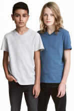 Lot de 2 T-shirts - Bleu chiné - ENFANT | H&M FR 1