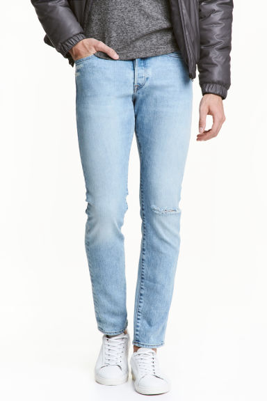 Slim Low Jeans - Light denim blue - Men | H&M CA