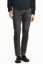 Slim Low Jeans - Black washed out -  | H&M 1