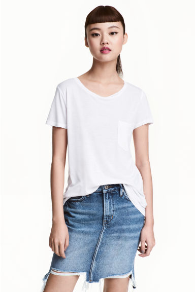 T-shirt in jersey - Bianco - DONNA | H&M IT 1