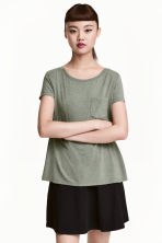 平紋上衣 - Khaki green - Ladies | H&M 1