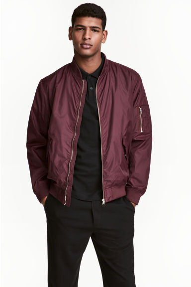 Bomber jacket - Plum - Men | H&M