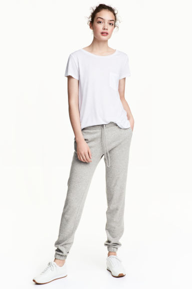 Pantalon molleton Skinny fit - Gris chiné -  | H&M FR 1