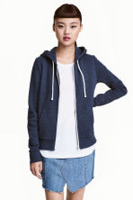 Hooded jacket - Dark blue - Ladies | H&M 1