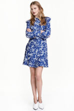 Printed dress - Dark blue/Floral -  | H&M GB 1