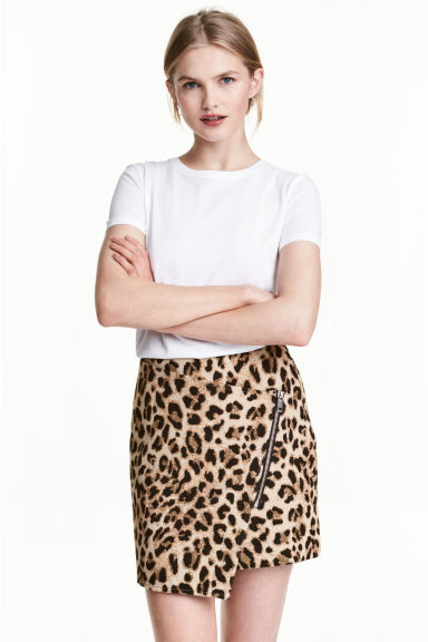 Textured skirt - Leopard print - Ladies | H&M 1