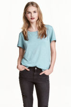 Jersey top - LIght turquoise marl - Ladies | H&M 1