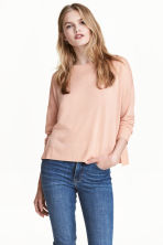 Fine-knit jumper - Powder pink - Ladies | H&M 1