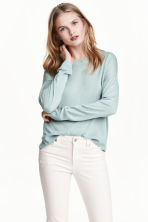 Fine-knit jumper - Light turquoise - Ladies | H&M CN 1