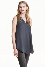 Crêpe blouse - Dark grey - Ladies | H&M 1