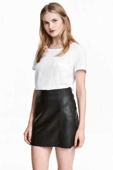 平紋上衣 - White marl - Ladies | H&M