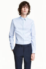 Stretch shirt Slim fit - White/Blue striped - Men | H&M CN 1