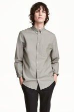 Premium cotton Oxford shirt - Mole - Men | H&M CN 1