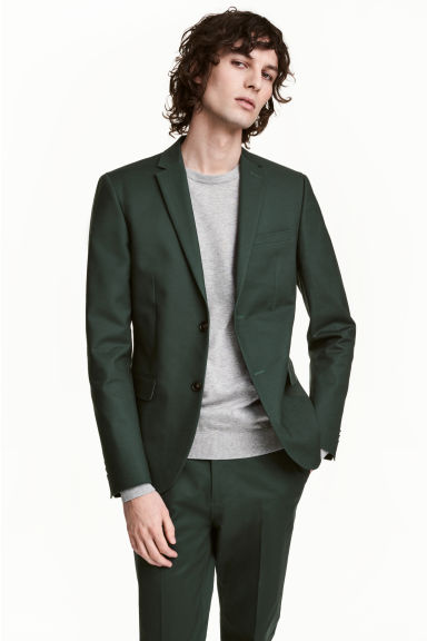 Cotton jacket - Dark green - Men | H&M