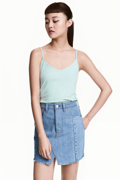 Jersey strappy top - Mint - Ladies | H&M 1