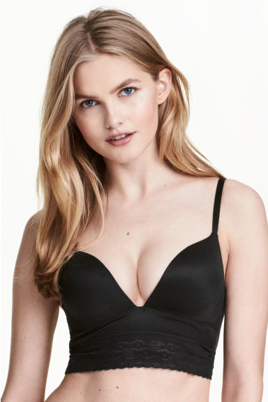 Microfibre bralette - Black - Ladies | H&M 1