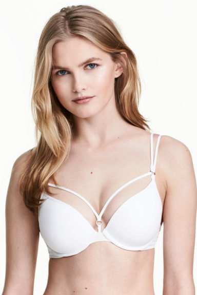 Reggiseno push-up microfibra - Bianco - DONNA | H&M IT 1
