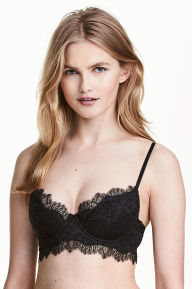 Lace push-up bra - Black - Ladies | H&M CA 1