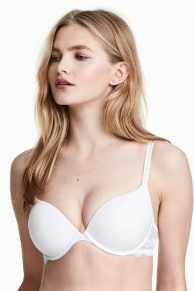 Super-push up microfibre bra - White - Ladies | H&M 1