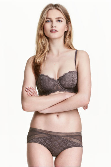 Lace hipster briefs - Truffle - Ladies | H&M CN 1