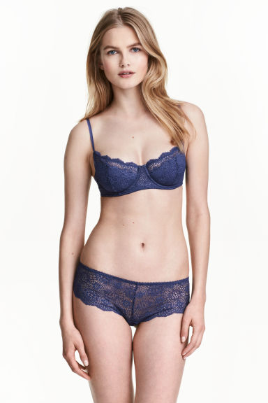 Lace hipster briefs - Dark lavender - Ladies | H&M 1