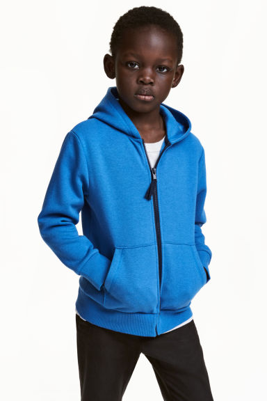 Hooded jacket - Blue - Kids | H&M CN 1
