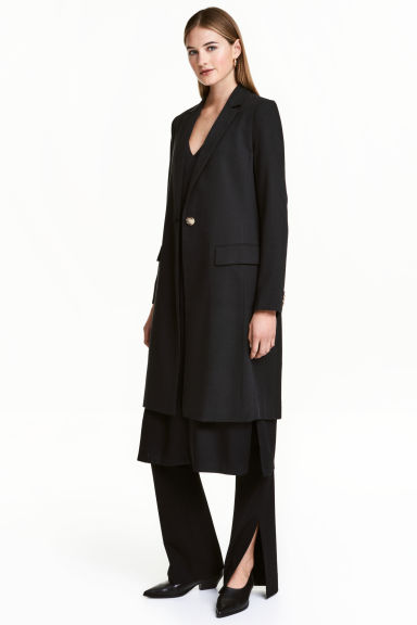 Lyocell coat - Black - Ladies | H&M 1