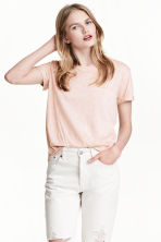Jersey top - Powder pink marl - Ladies | H&M CN 1