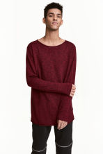 Fine-knit jumper - Burgundy - Men | H&M 1