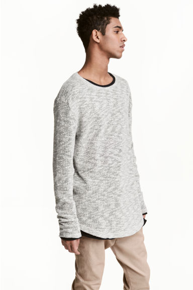 Loose-knit jumper - Grey marl - Men | H&M CN 1