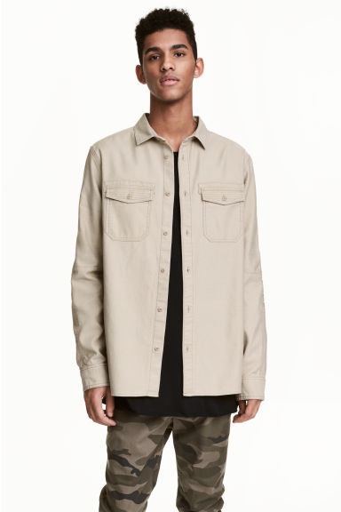 Utility shirt - Beige - Men | H&M CA 1