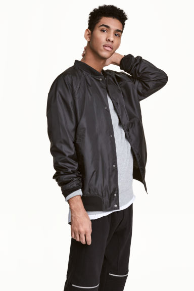 Baseball jacket - Black - Men | H&M CN 1