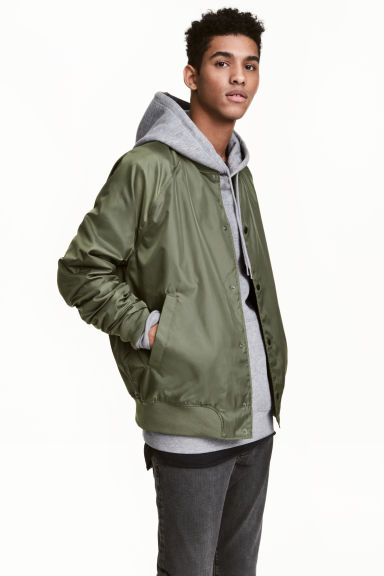 Baseball jacket - Khaki green - Men | H&M CN 1