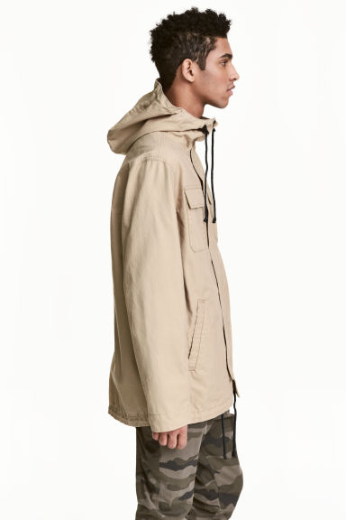 Parka with a hood - Beige - Men | H&M 1