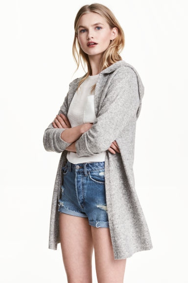Hooded cardigan - Grey marl - Ladies | H&M 1