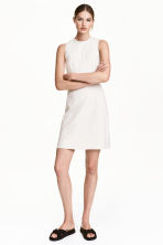 Fitted dress - Light beige/Pattern - Ladies | H&M CN 1