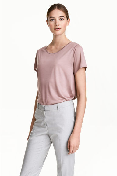 Lyocell top - Vintage pink - Ladies | H&M