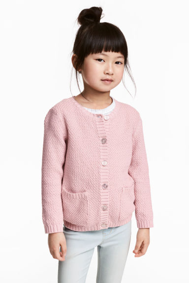 Cotton cardigan - Light pink/Glittery - Kids | H&M 1
