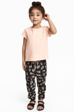 Pull-on trousers - Black/Leopards - Kids | H&M CN 1