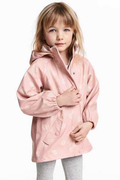 Patterned rain jacket - Dusky pink/Spotted - Kids | H&M CN 1
