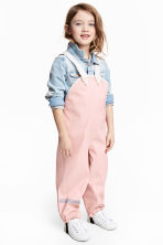 Rain trousers with braces - Dusky pink -  | H&M 1