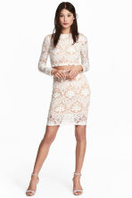 Patterned mesh skirt - Natural white - Ladies | H&M 1