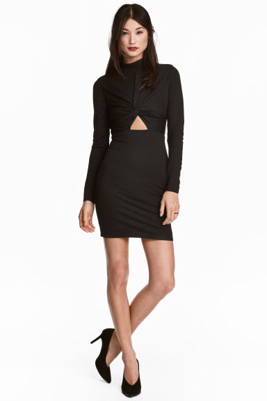 Fitted dress - Black -  | H&M CA 1