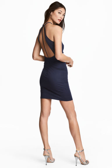 Bodycon dress - Dark blue - Ladies | H&M CN 1
