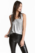 Shimmering vest top - Silver - Ladies | H&M 1