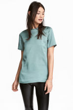 Short-sleeved top - Dusky green - Ladies | H&M CN 1